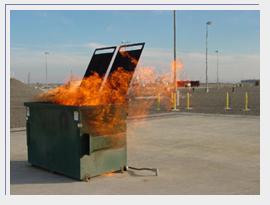 Dumpster Burning